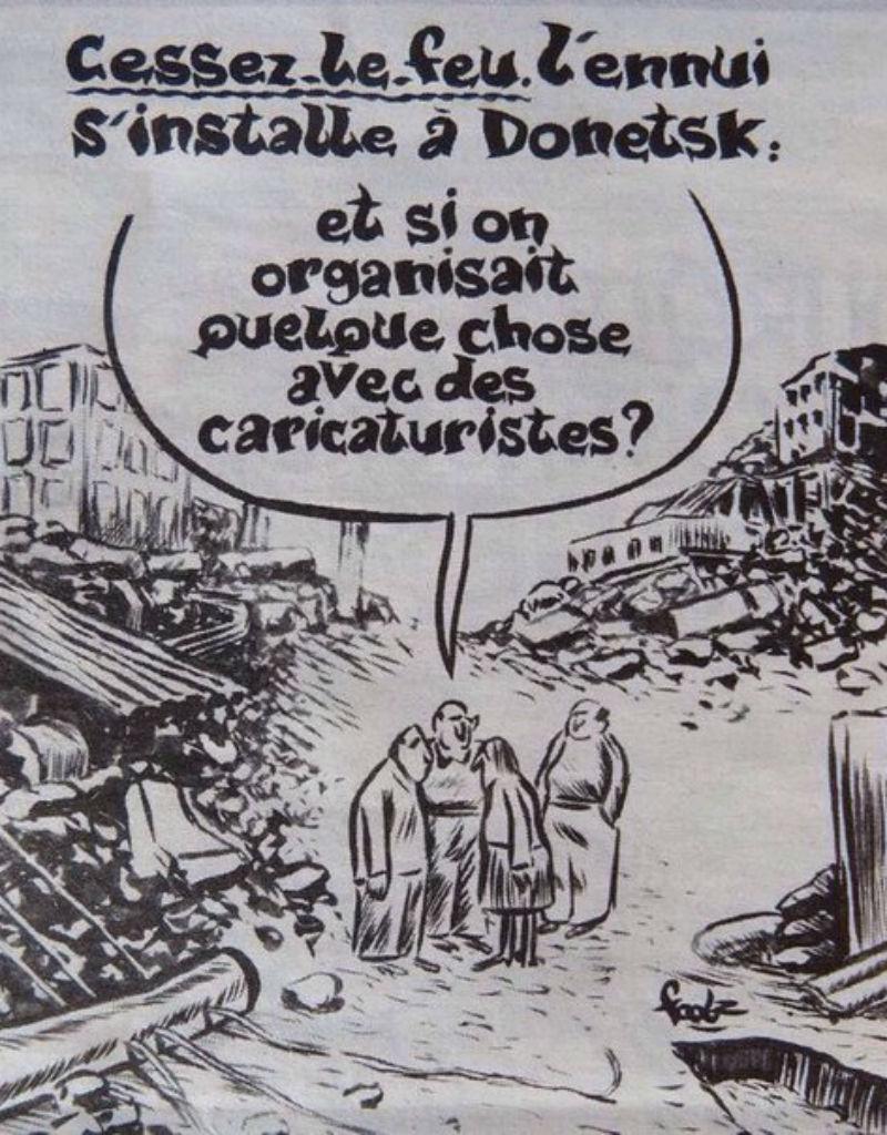 O cartoon do «Charlie Hebdo» que está a irritar os russos (Reprodução)