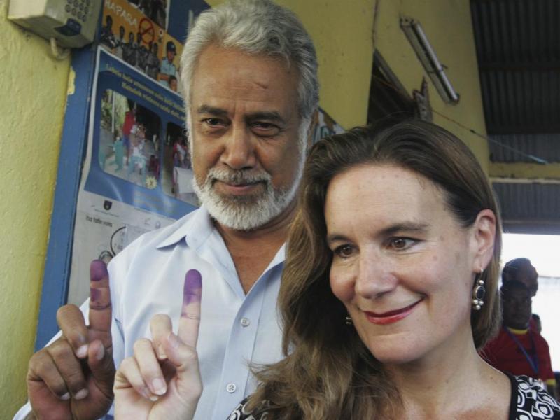 Kirsty Gusmão e Xanana Gusmão (Reuters)
