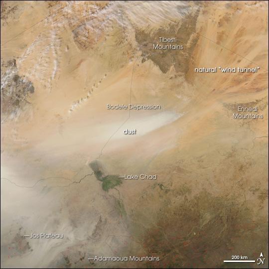 Formação dos ventos nas cadeias montanhosas (NASA)