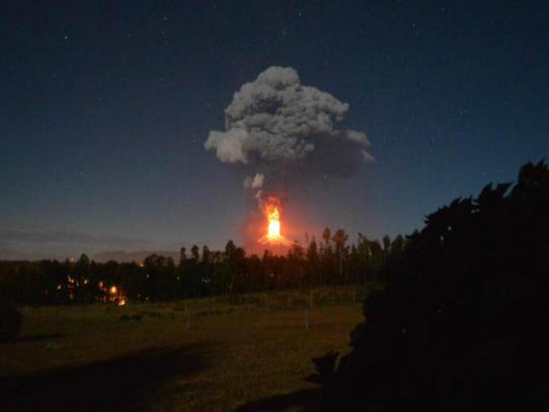 Vulcão Villarica (Reprodução Twitter/Biobio)