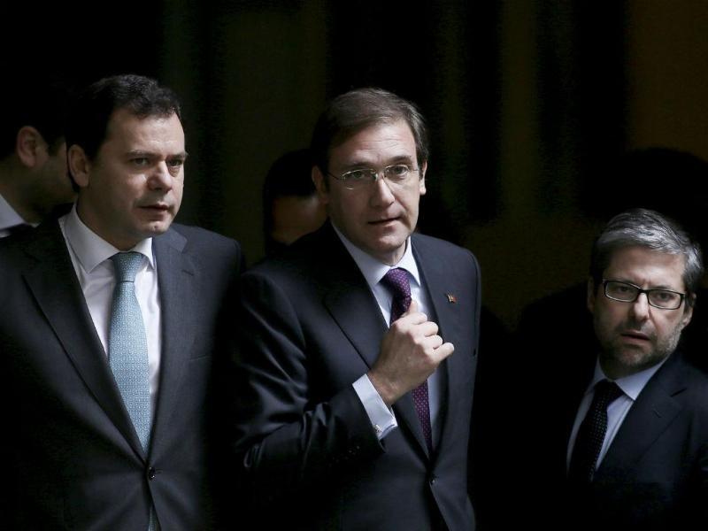 Luís Montenegro, Passos Coelho e Marco António Costa [Foto: Lusa]