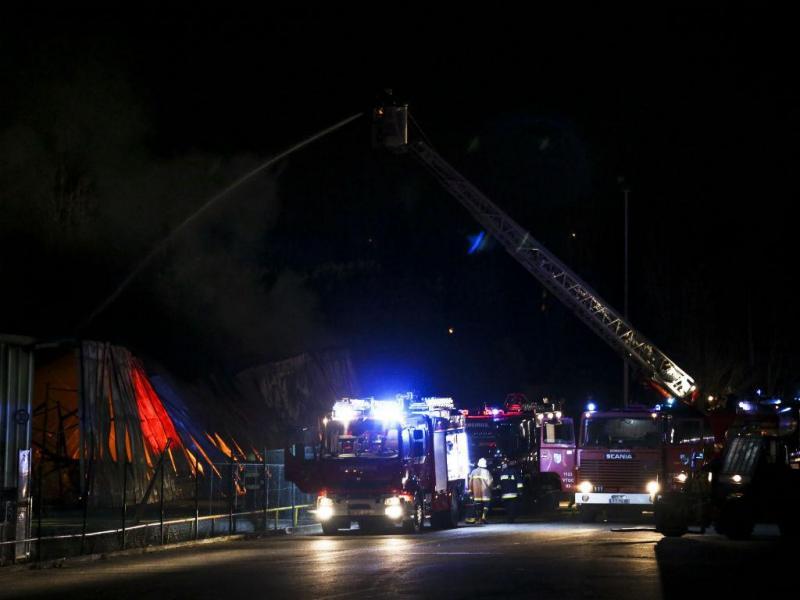 Incêndio em fábrica do Carregado (André Kosters/Lusa)