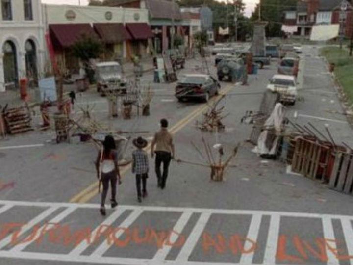 Imagem do episódio «Clear» de «The Walking Dead», filmado em Grantville