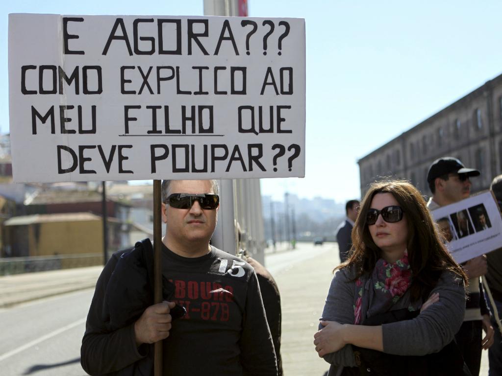 Protesto de lesados do BES no Porto