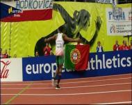 Nélson Évora campeão europeu de pista coberta