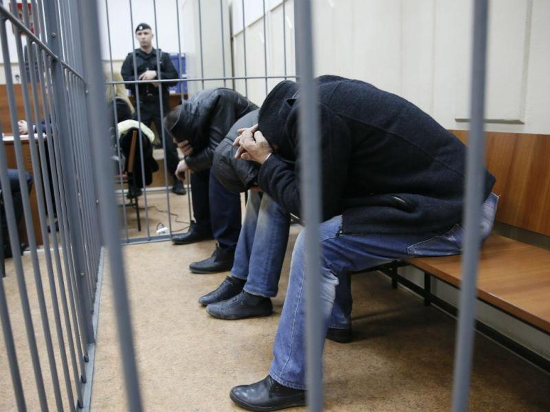 Suspeitos do homicídio de Boris Nemtsov [Foto: EPA]