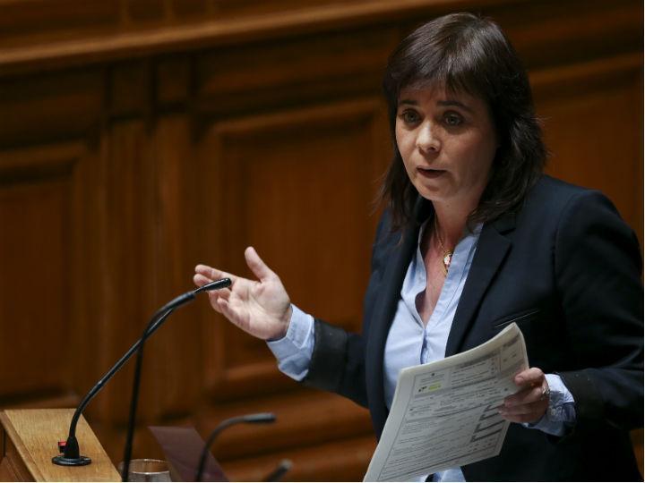 Catarina Martins no debate quinzenal (MANUEL DE ALMEIDA/LUSA)