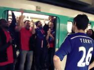 John Terry no metro de Paris