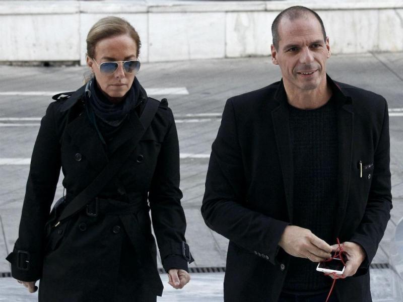 Danae Stratou e Yanis Varoufakis [Foto: Reuters]