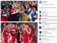 Souness e Carragher no instagram do Chelsea