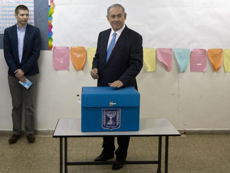 Israel: Benjamin Netanyahu vota nas Legislativas (REUTERS)