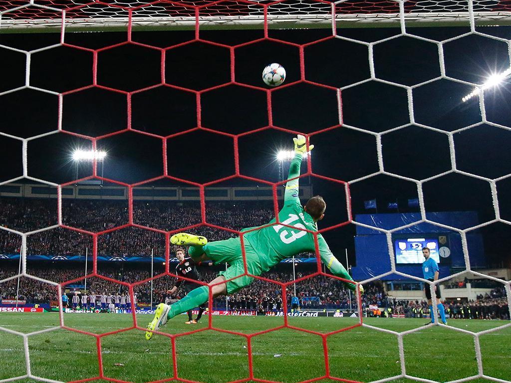 At. Madrid-Leverkusen (REUTERS/ Sergio Perez)