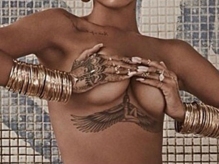 Rihanna aderiu à nova tendência «underboob» (Instagram)