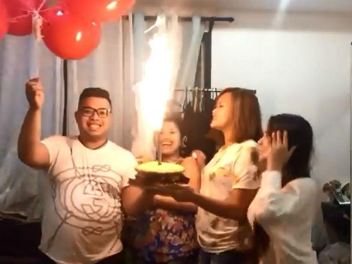 Festa de aniversário quase acaba em tragédia (YouTube)