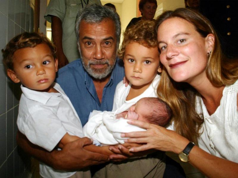 Xanana Gusmão com a mulher, Kirsty Sword, e os filhos (REUTERS)