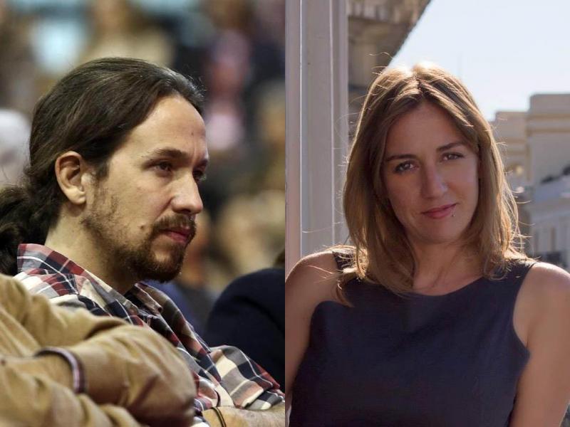Pablo Iglesias e Tânia Sánchez
