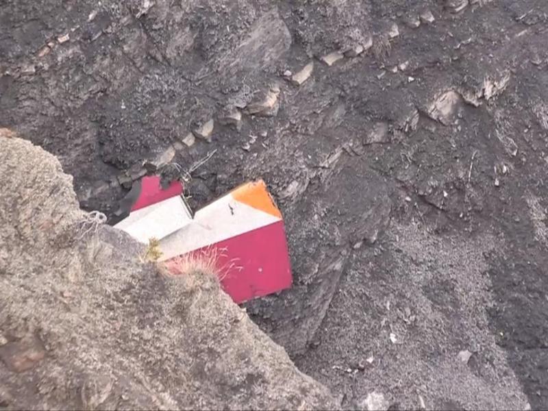 Destroços do A320 da GermanWings (Reprodução)