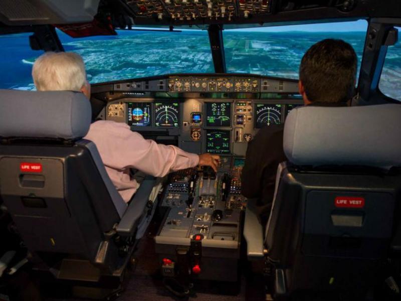 Dentro do cockpit de um Airbus A320