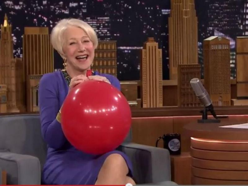 Helen Mirren no «The Tonight Show» (Reprodução YouTube)