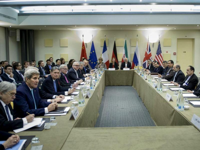 Grupo 5+1 em negociações em Lausanne, Suíça (REUTERS)