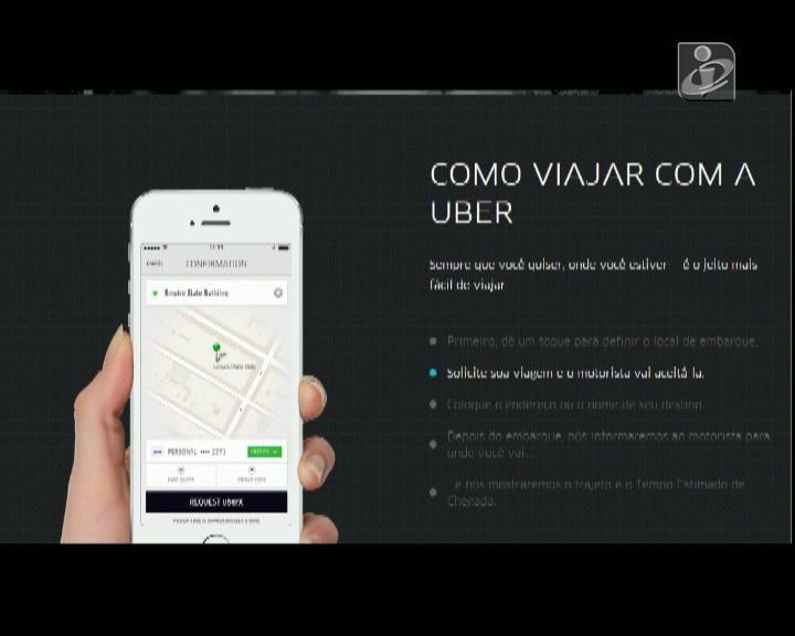 Taxistas portugueses contra aplicação «Uber»
