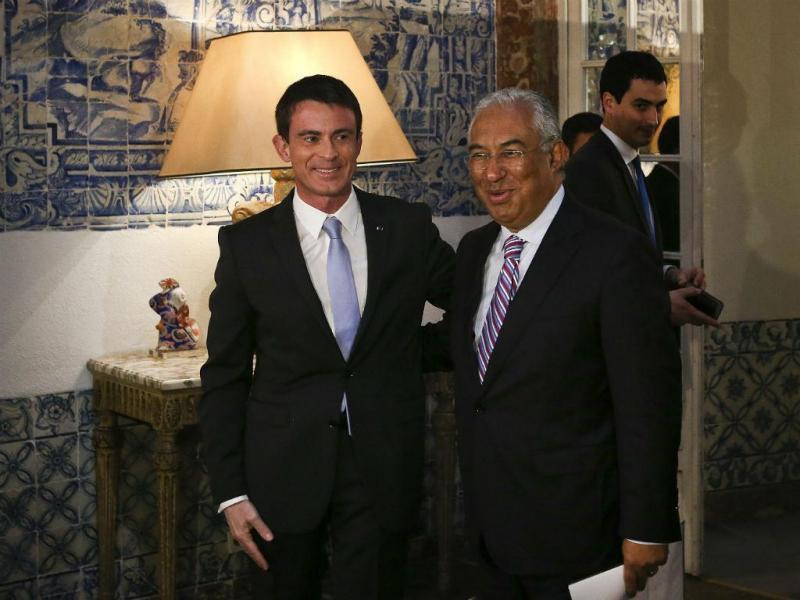 Manuel Valls e António Costa - EPA/MARIO CRUZ