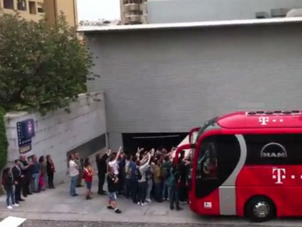 Saída do Bayern do hotel