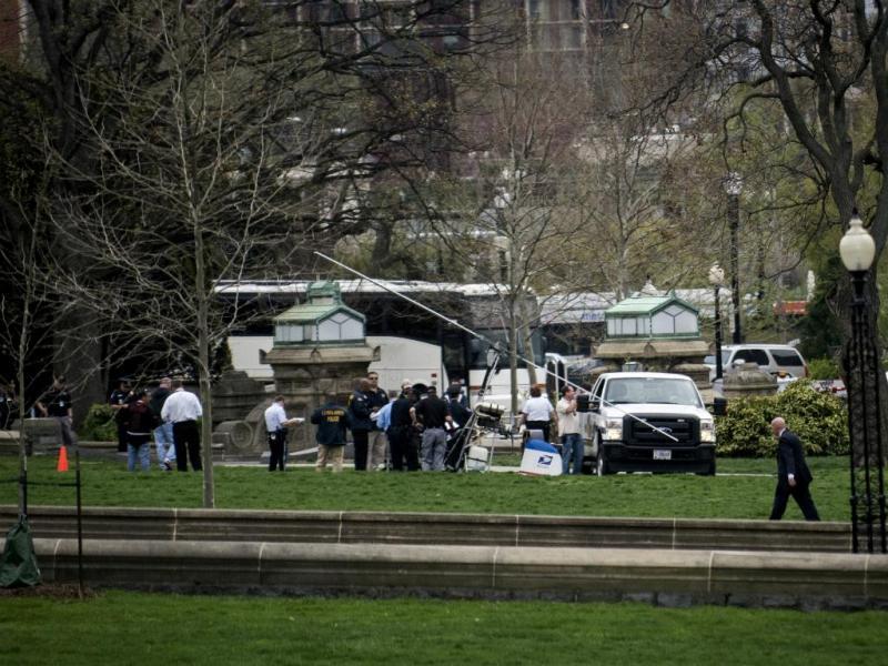 Helicóptero aterra no Capitólio (Reuters)