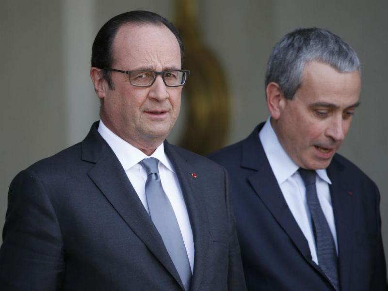 François Hollande e Laurent Stéfanini no Eliseu (REUTERS)