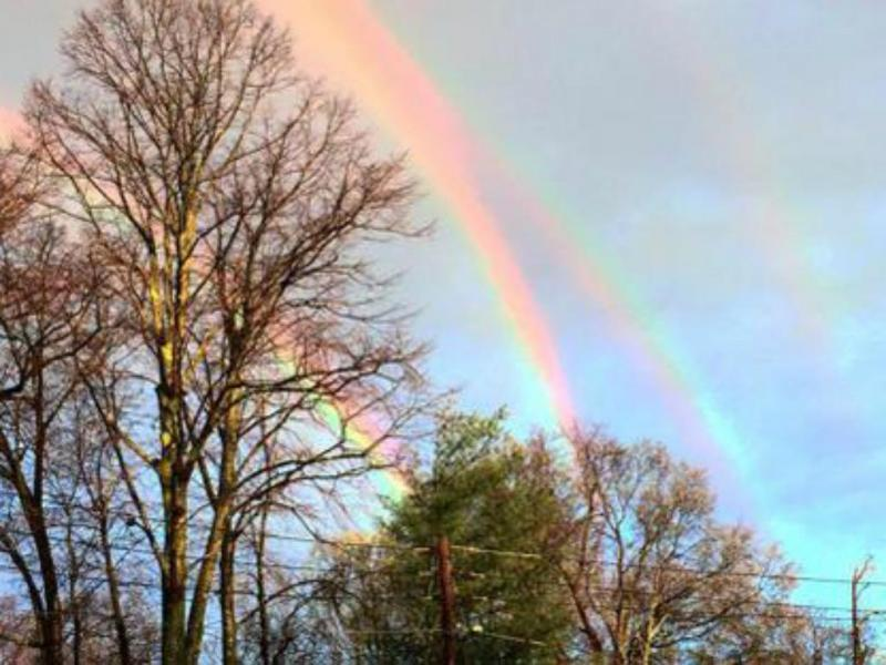 Quadruplo arco-íris [Foto:Twitter]