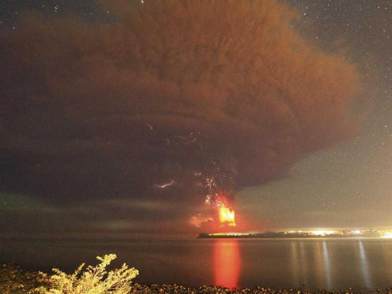 Erupção vulcânica no Chile (Reuters)