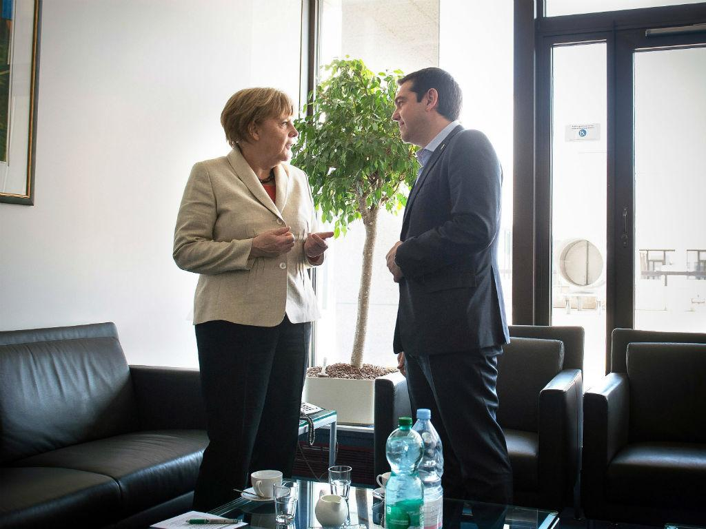 Angela Merkel e Alexis Tsipras [Lusa/EPA]