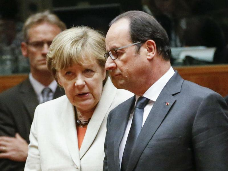 Angela Merkel e François Hollande [Lusa/EPA]