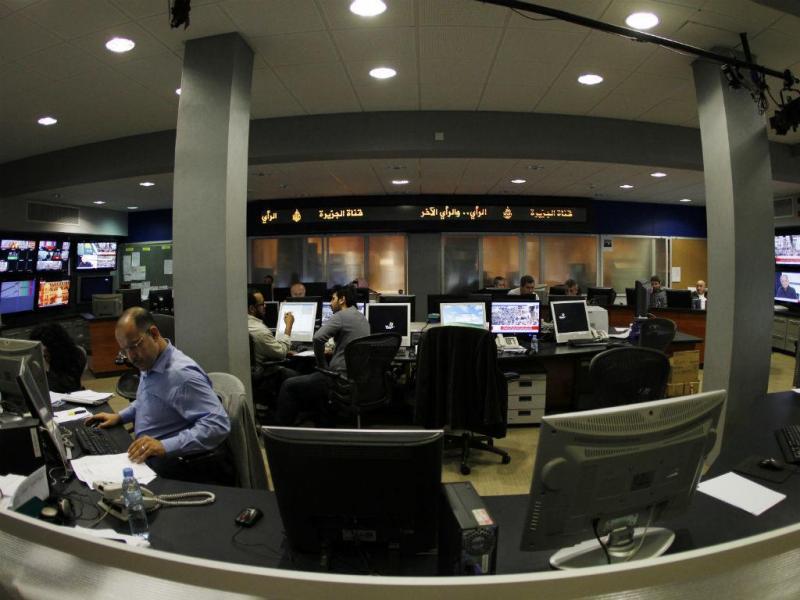 Redação da Al Jazeera em Doha, no Qatar (REUTERS)