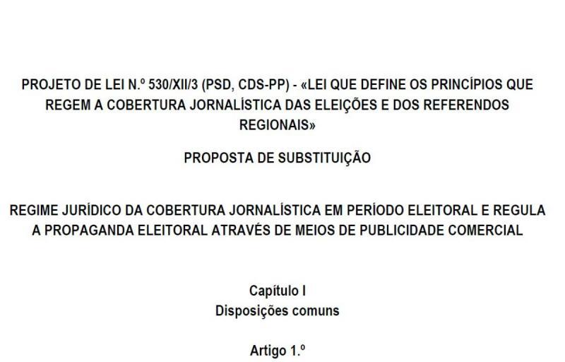 Diploma sobre a cobertura jornalística em período eleitoral