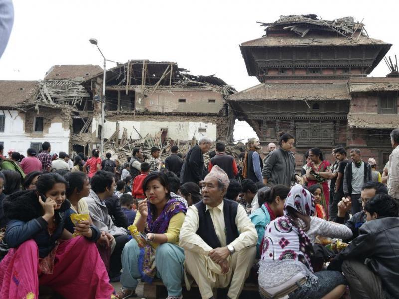 Forte sismo no Nepal (Lusa/EPA)