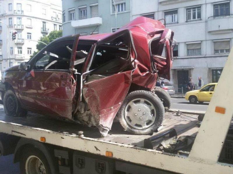 Acidente em Lisboa [Foto: Jorge Soares]