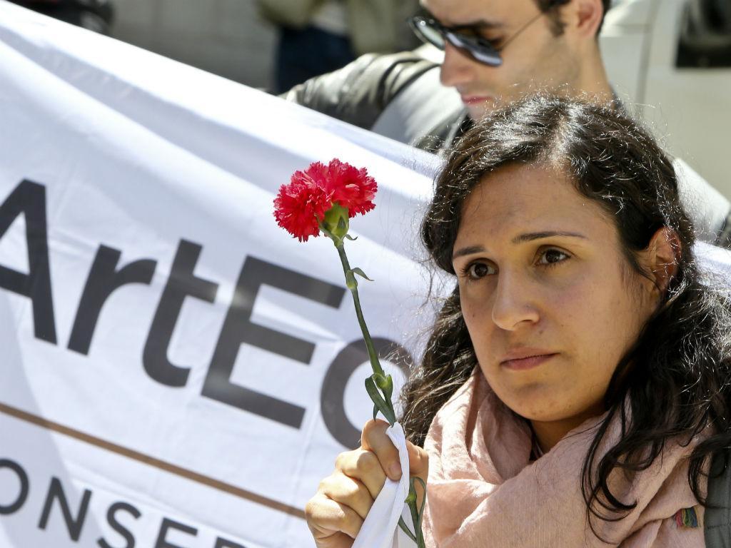 Professores do ensino artístico em protesto - JOÃO RELVAS/LUSA