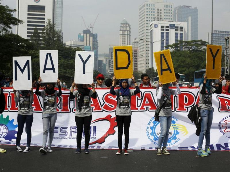 O 1.º de Maio pelo mundo [Reuters]