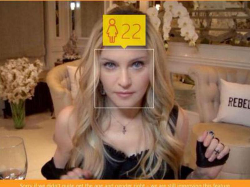 Madonna também quis saber a sua idade [Foto:Twitter]