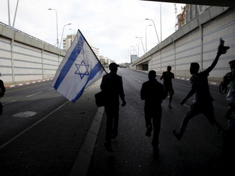 Protestos anti-racismo em Telaviv, Israel [Reuters]