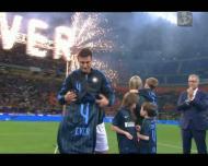 Chuva de golos no jogo entre amigos de Zanetti