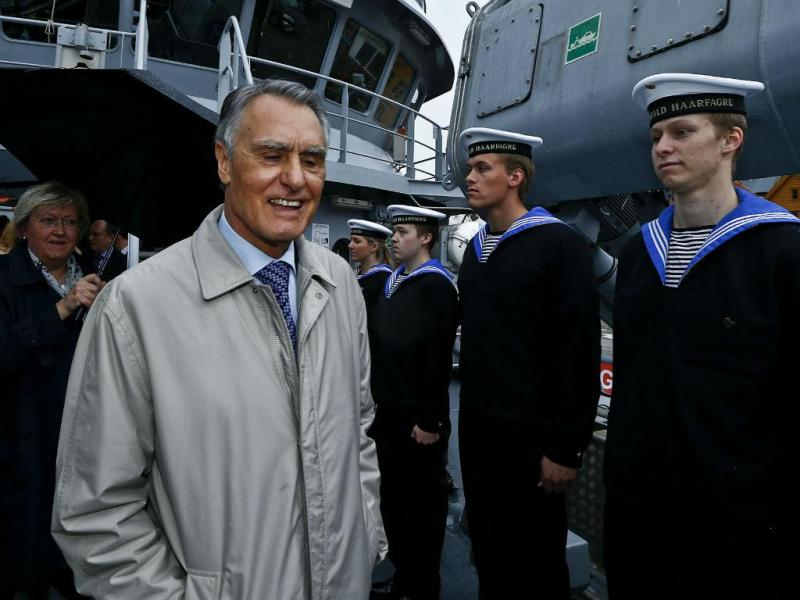 Cavaco Silva na Noruega (LUSA)