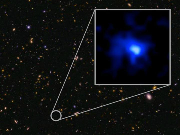 Nova galáxia bate o recorde de distância [Foto:NASA]