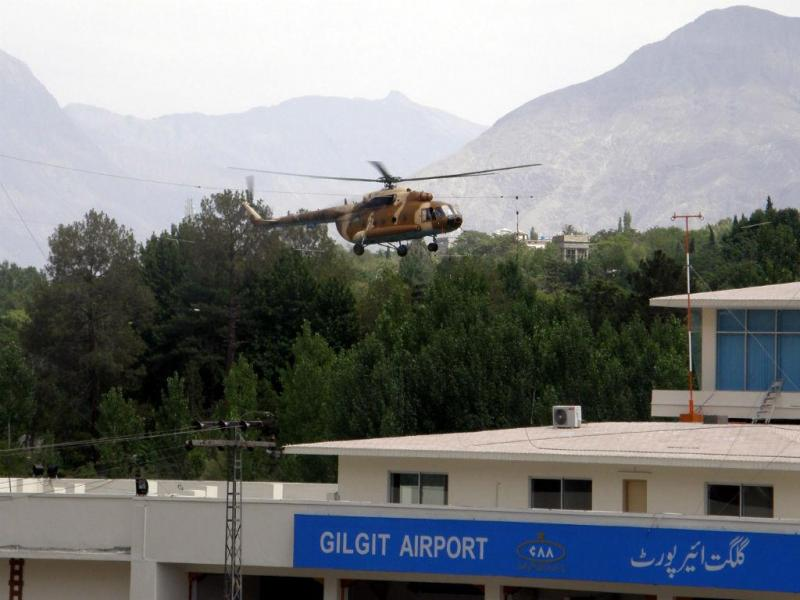 Helicóptero militar do Paquistão (EPA)