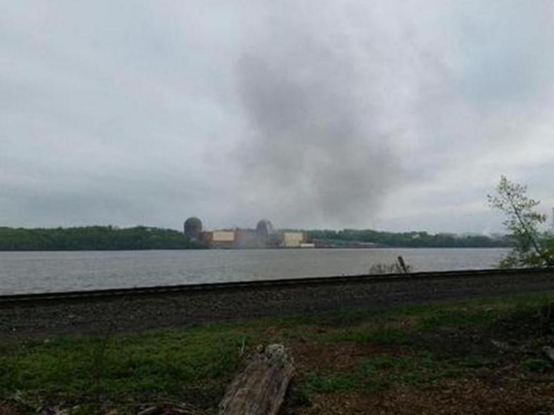 Explosão em central nuclear no Estado de Nova Iorque (Reprodução/Twitter)