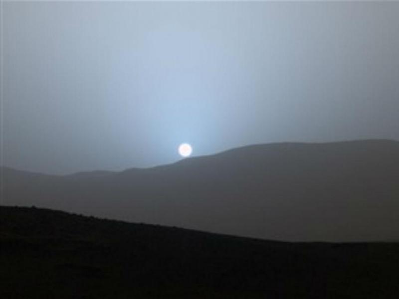 Pôr-do-sol em Marte (Fotografia: NASA)