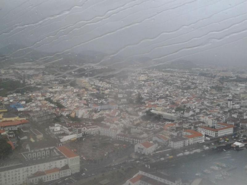 Mau tempo nos Açores (Foto: euvi@tvi.pt/Isabel Nogueira Leite)