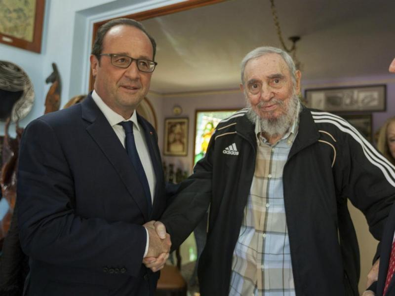 François Hollande e Fidel Castro (Lusa/EPA)