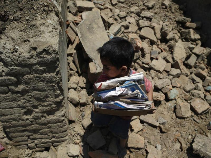 Novo sismo no Nepal [Foto: EPA]